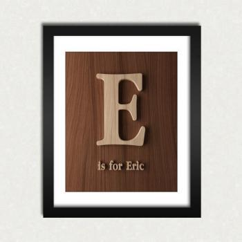 Personalized Alphabet Nursery Wood Letter Sign Printable - Digital Download - Size 8x10 - Perfect Gift Idea